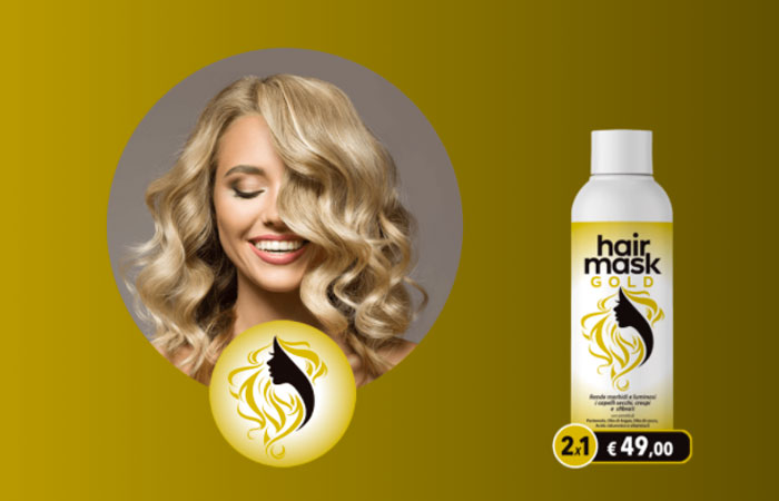 hair mask gold maschera naturale per capelli